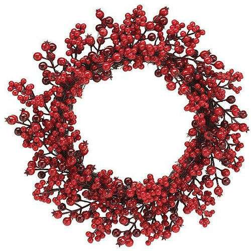 Red Berry Christmas Wreath - Howell's Mercantile