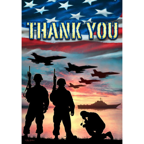 Thank You Troops - Large Flag - 28