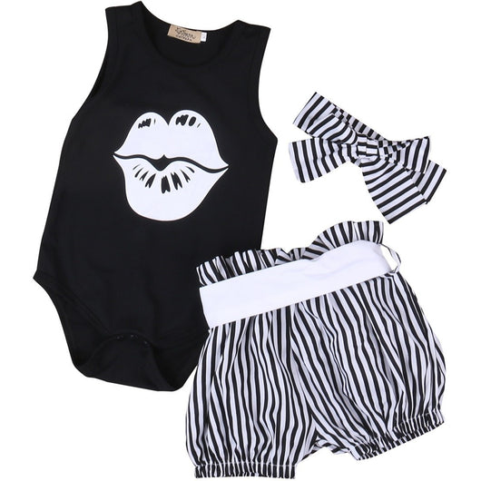 3PCS KISS SET-BABY GIRLS-Todlrboutik