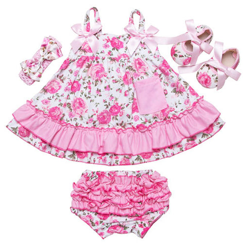 Floral summer 4Pcs set-BABY GIRLS-Todlrboutik