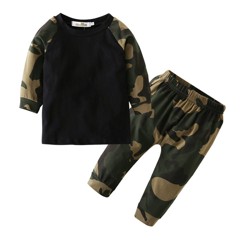 Baby Boy camouflage 2pcs Set