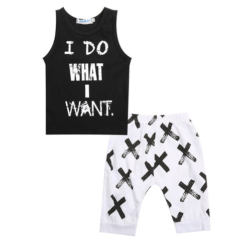 Sleeveless Shirt Set-BABY BOYS-Todlrboutik