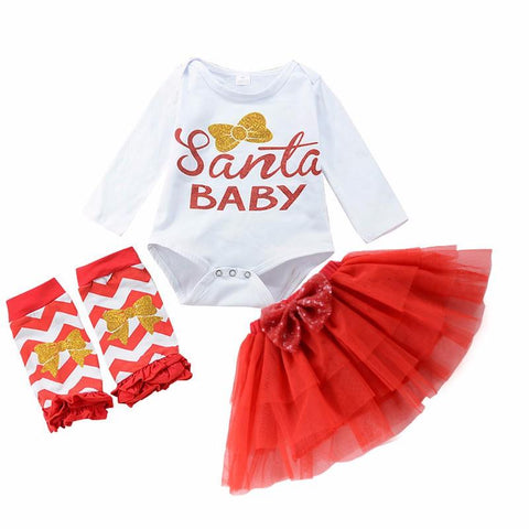 Red and Gold Santa Baby Set - Todlrboutik