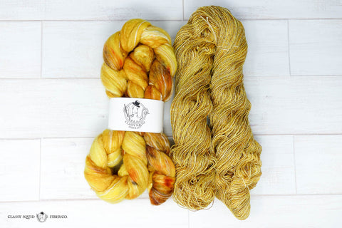 Spun yarn next to combed top