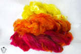Hand-Pulled Sunset Roving - 4oz