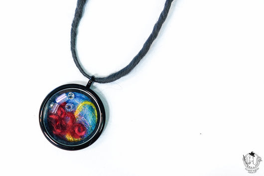 Fiber Art Necklace 04