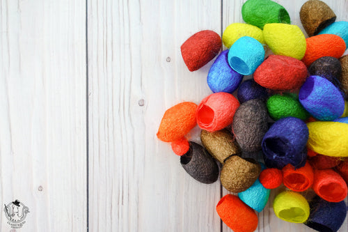 Dyed Silk Cocoons