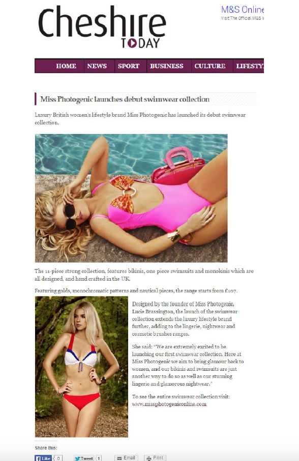 Cheshire Today - Swimwear Feature