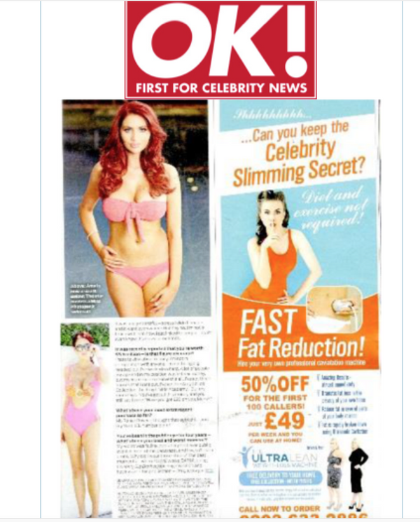 OK! Magazine Amy Childs Wears Miss Photogenic Swimwear