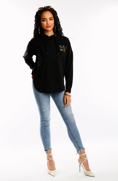 Black Oversized Miss Photogenic® London Hoodie
