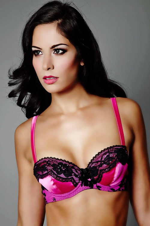 Lace That Enveloped A Rose Balcony Bra, Bras - Miss Photogenic