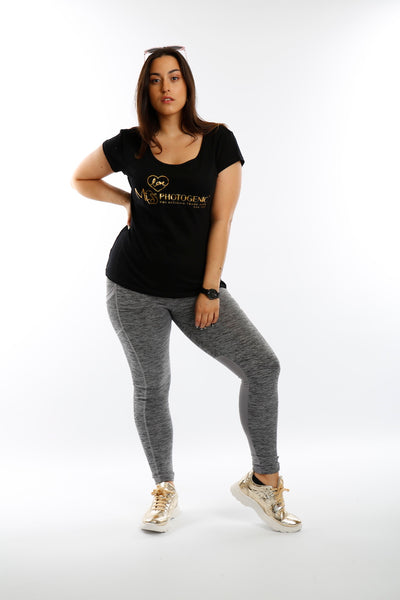 Black Cut Out LOVE Miss Photogenic® Gold Foil Logo T Shirt, t shirt - Miss Photogenic