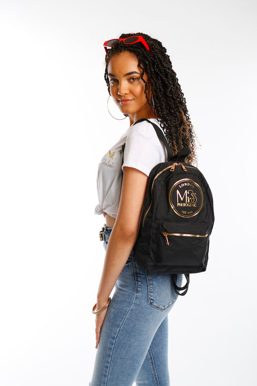 Miss Photogenic® London Black & Gold Backpack, backpack - Miss Photogenic