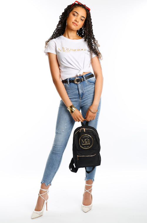 Miss Photogenic® London Black & Gold Backpack