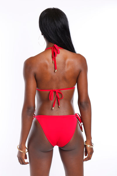 Riviera Charms Bikini Top (Red)