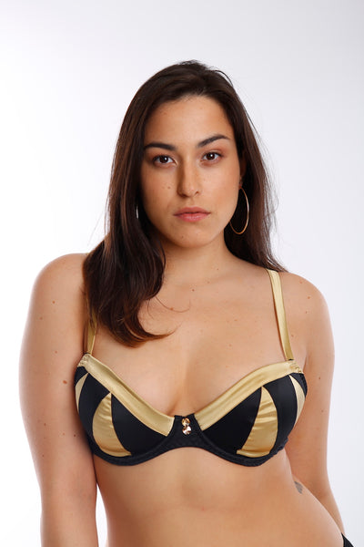 Truly Miss Photogenic Black Plunge Bra (GOLD Collection)