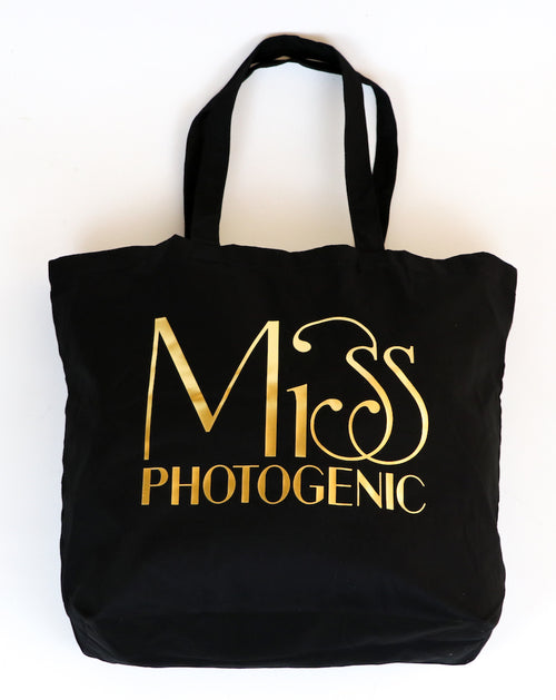 Black Miss Photogenic® Tote Bag, bag - Miss Photogenic
