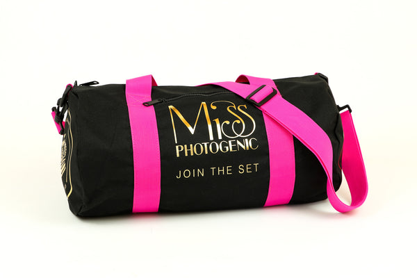 London Crown Gym Studio Bag in Black & Fuchsia, bag - Miss Photogenic