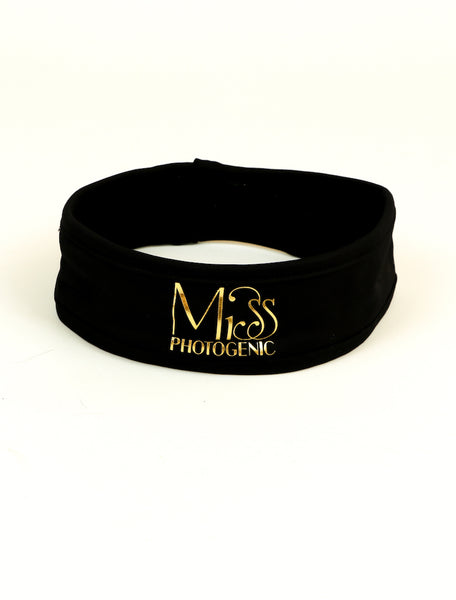 Miss Photogenic® Seriously Hot Black & Gold Sweat Band, sweat band - Miss Photogenic