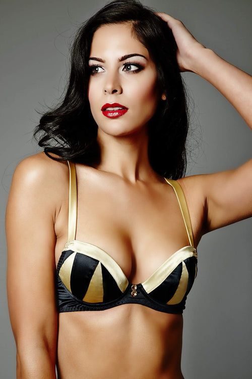 Truly Miss Photogenic Black Plunge Bra (GOLD Collection), Bras - Miss Photogenic