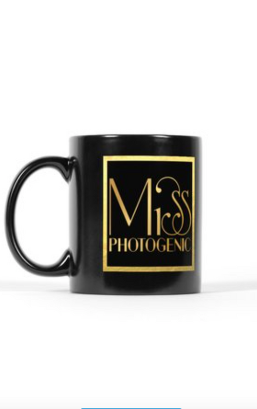 Miss Photogenic® Black & Gold Logo Mug, Mug - Miss Photogenic
