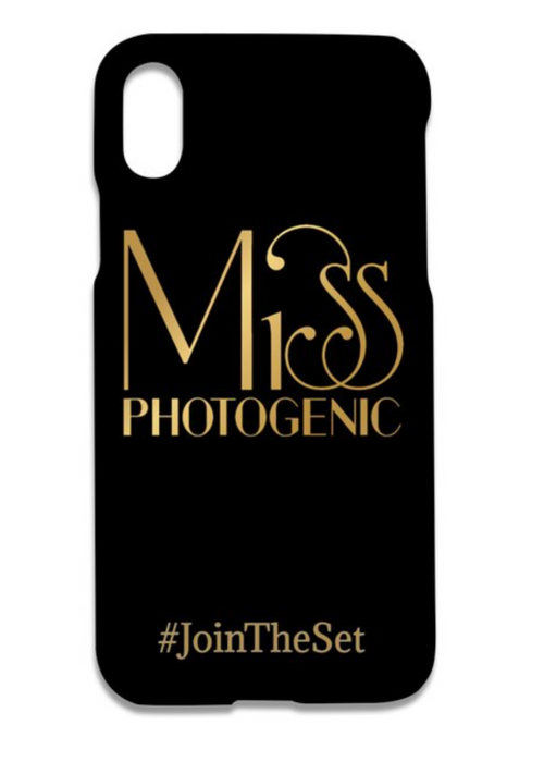 Miss Photogenic® iPhone X Gold Logo Case, Tech Cases - Miss Photogenic