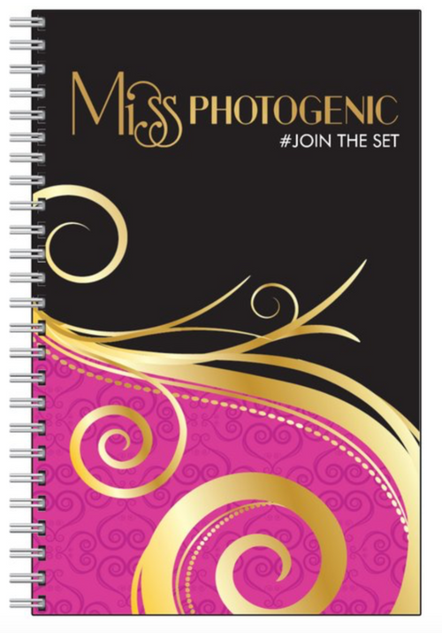 Miss Photogenic® Logo Stylish Notebook, Notebook - Miss Photogenic