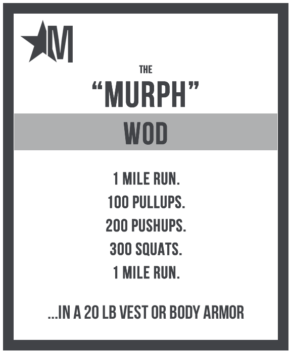 The Workout - The Murph Challenge 2019