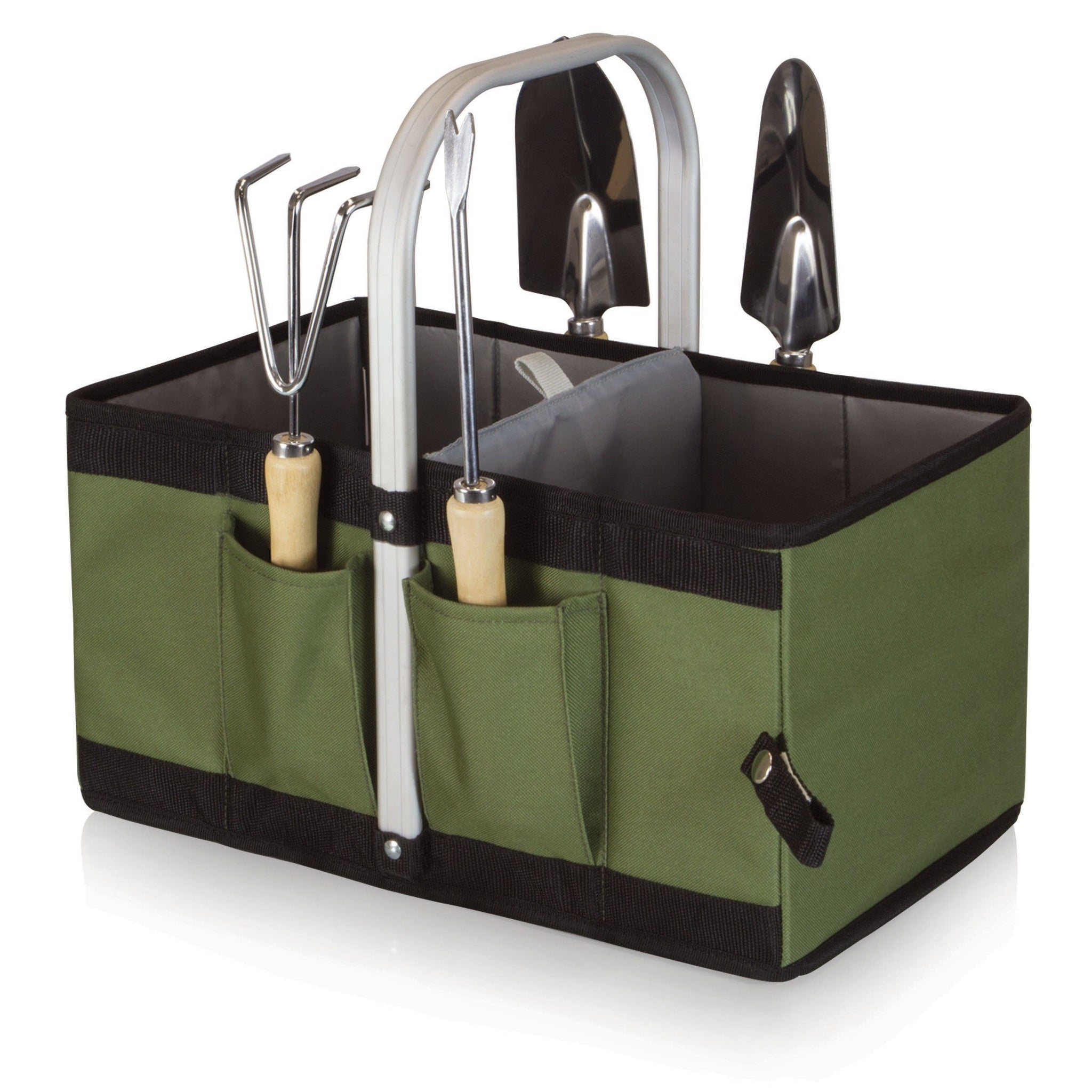 COLLAPSIBLE GARDEN CADDY BASKET WITH TOOLS - Grogans Mill Gifts