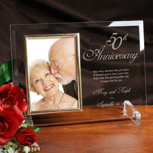 50th anniversary engraved frame personalized grogans mill gifts