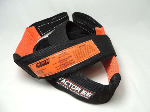 "Tree Saver Strap 8' Long, 3"" Wide (Black/Orange) by Factor 55 at KxK Industries LLC"