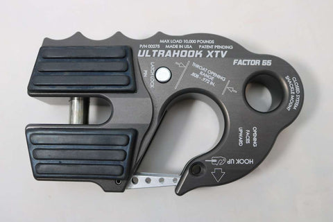 UltraHook - XTV (ATV/UTV) Powersports Winch Hook by Factor 55 Anodized Gray Mil Spec at KxK Industries LLC