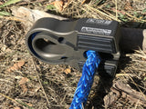 Flat Splicer - Foldable, Splice On Winch Line Shackle Mount by Factor 55 Gray Anodizing With Synthetic Line KxK Industries LLC