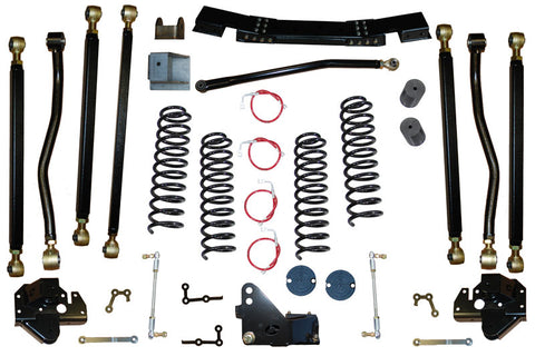 Jeep Wrangler 2.5 Inch Pro Series 3 Link Long Arm Lift Kit 2007-2011 JK Clayton Off Road Off-Road KxK Industries LLC Offroad