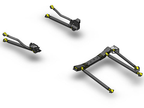 Jeep Wrangler Pro Series 3 Link Long Arm Upgrade Kit 2007-2011 JK Clayton Off Road Off-Road KxK Industries LLC Offroad