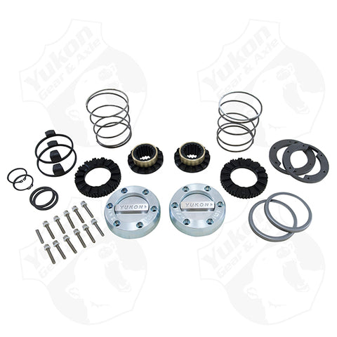 Yukon Hardcore Locking Hub Set For Dana 44 GM & Ford 1/2 & 3/4 Ton, 19 Spline