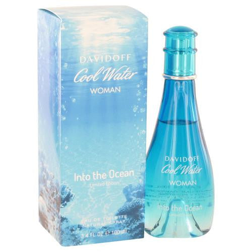 Cool Water Into The Ocean by Davidoff Eau De Toilette Spray 3.4 oz (Women)