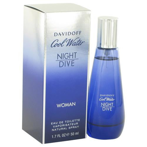 Cool Water Night Dive by Davidoff Eau De Toilette Spray 1.7 oz (Women)