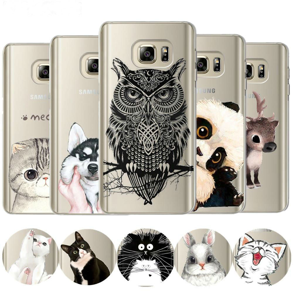 Cute Cartoon Case For Coque Samsung Galaxy Grand Prime S7 Edge S8 Plus