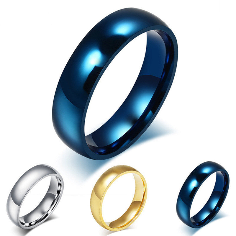 Men's Classic Titanium Steel Ring High Quality  Stainless Steel Finger Ring Colors Size 4-15