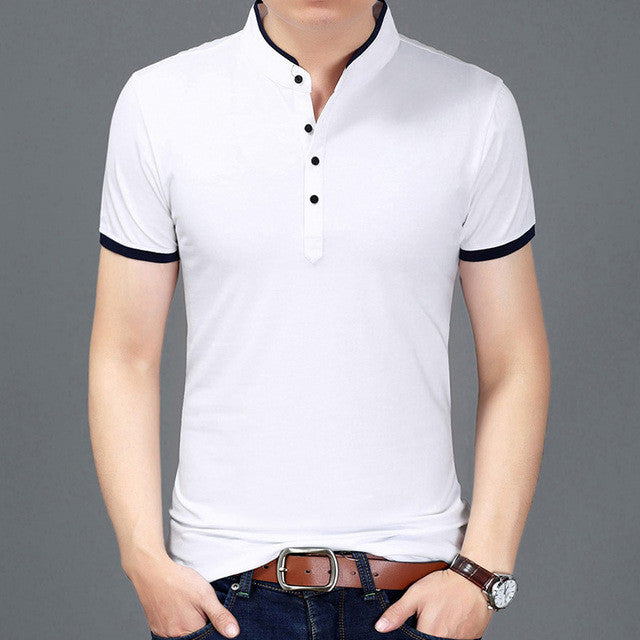 2017 Summer New Fashion Clothing T-shirt for Men Slim Fit Short Sleeve
