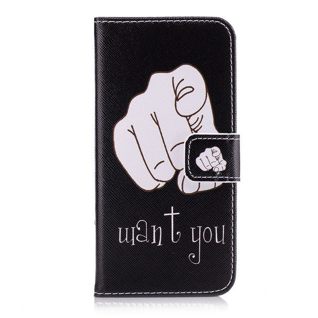 Leather Wallet Flip Case Soft Cover For Samsung Galaxy  S6 S7 edge S8 Plus