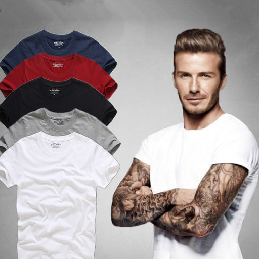 Top Quality Men's Short Sleeve 100% Cotton T-shirt Men 2017 Summer