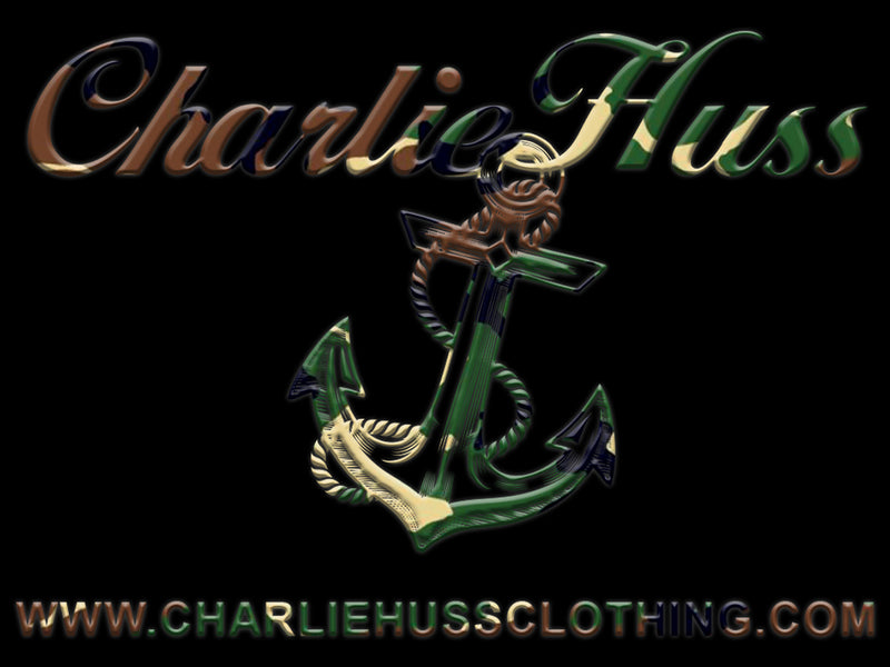 CHARLIE HUSS Camo Anchor Sticker
