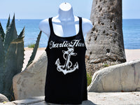 Women's black tank top