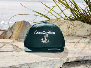 Charlie Huss Army Green Snapback Hat