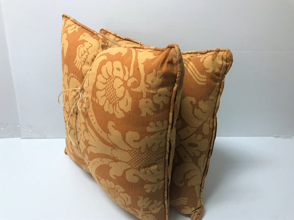 Flower Pattern Square Pillow - 2 pk