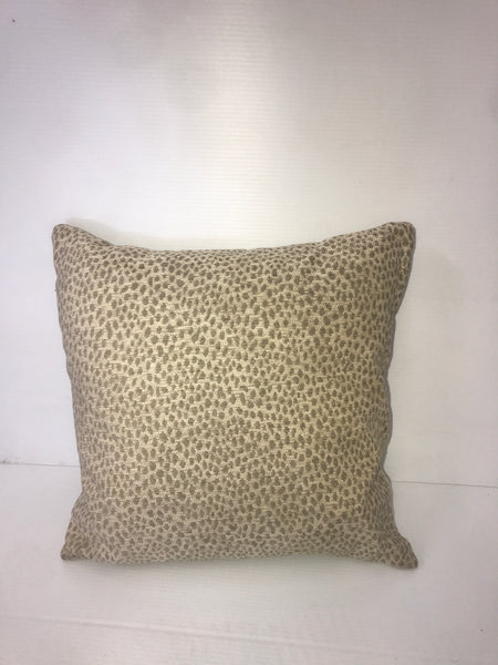 Green Speckled Square Pillow