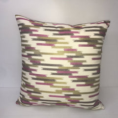 Green/Purple Mosaic Pattern Square Pillow