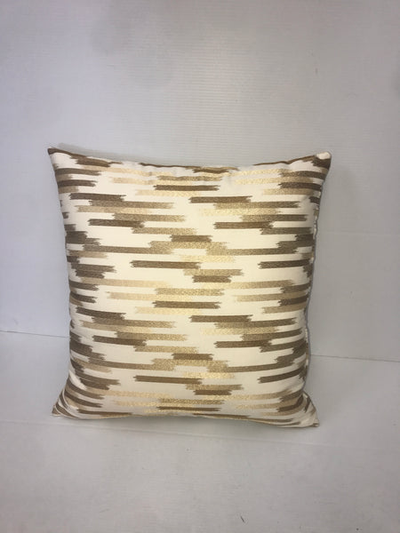 Gold/Brown Mosaic Square Pillow